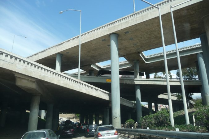 Four level interchange los angeles conservancy for Used lumber los angeles