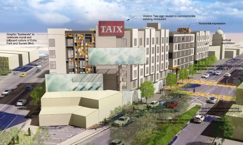 Rendering of proposed redevelopment project, as of May 2020