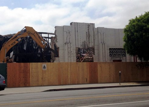 Demolition of Mole-Richardson Building in June 2014