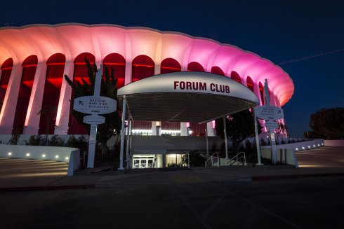 The Forum exterior night photo